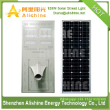 120W All-In-One Integrated LED Solar Street Light with 170W high efficiency Mono Solar Panel