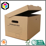 Flexo Black Color Print Archive Storage Box with Lid