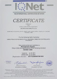 ISO CERTIFICATE of FORKLIFT