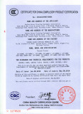 3C Certificate for Vacuum Cleaner 2