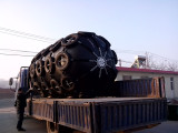 Pneumatic rubber fender ready shipping to Yantai