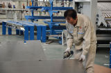 Excellent employee in folding workshop