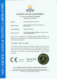 CE CERTIFICATE of Anti-Vandal Switch