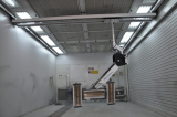 Infrared heating spray booth paint booth repair