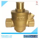 Brass water reducing pressure valve