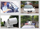3G4GPolice vehicle license plate recognition system Radar ptz camera