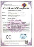 CE Certificate of receiver & transmitter