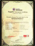 BV Supplier Assessment certificate1