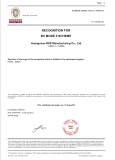 RSP BV Type Approval Certification