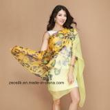 Newest Printed Custom Silk Women Chiffon Silk Scarf