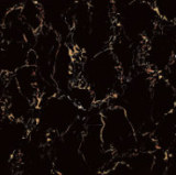 Foshan Tile Building Material Full Body Light Polished Glazed Porcelain Floor Tile Black (BMG12P)