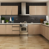 Fashionable Oak Grain Melamine Kitchen Cabinet