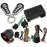 Remote engine start car alarm system with engine off LED light indicator