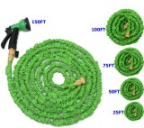 Expandable Garden Hose with Brass Ends (50FT; latex)