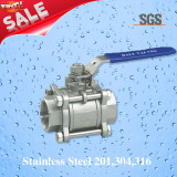 3PC Female Threaded Ball Valve, Stainless Steel 201, 304, 316 Valve, Q11f Ball Valve