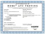 Confirmation of HDMI ATC Testing?