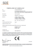 LVD Certificate of Two Doors Upright Cooler