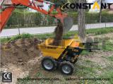 Mini Dumper used for landscaping with mini excavator