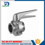 Sanitary Stainless steel weld butterfly valve