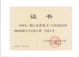 Innovative talents of Jiangsu province