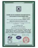 Certificate of conformity of enviromental managementsystem certification
