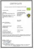 Organic certificted by kiwa BCS(EU)