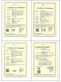 Certificates: CE FCC RoHS