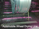 Automobile Wheel Drying Line