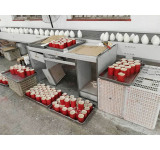 flameless LED wax candle processing
