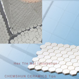 Alumina Ceramic Hex Tile Mat Installation From Chemshun