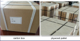 Pack with carton box and plywood pallet