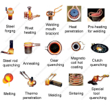 induction heating machine for heat treatment