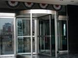 Full glass revolving door