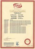 SAA Certificate of LED Tri-proof Light