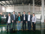 Customer from Italy visit our lamp factory