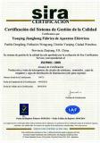 ISO of MCB/Terminal Box/Junction Box/Lighting Box (spanish)