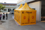 3x3m pagoda with logo-printed for Zambabwe client