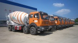 Concrete mixer truck for exporting