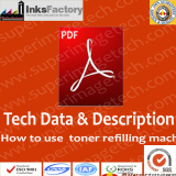 How to use toner filling machine