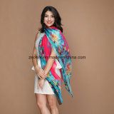 Color Matching Long Silk Scarf for Lady