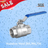 2PC Threaded Ball Valve, Stainless Steel 201, 304, 316 Valve, Q11f Ball Valve