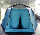6-8 man hexagon double layer automatic camping tents