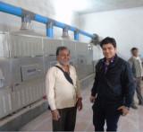 Indai puufed rice machine customer