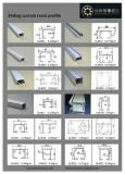 aluminium Sliding curtain track