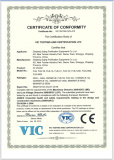 CE certification for air shower
