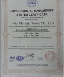 ISO14001 Quality certificate