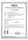CERTIFICATE of EMC COMPLIANCE(LED Ex-proof Tunnel light)