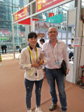 Meet old customers with the Bingye Wire Mesh company in the Canton Fair