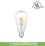Dimmable ST64 led filament bulb with cUL CE RoHS approved