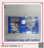 package-1pcs /pvc bag with button